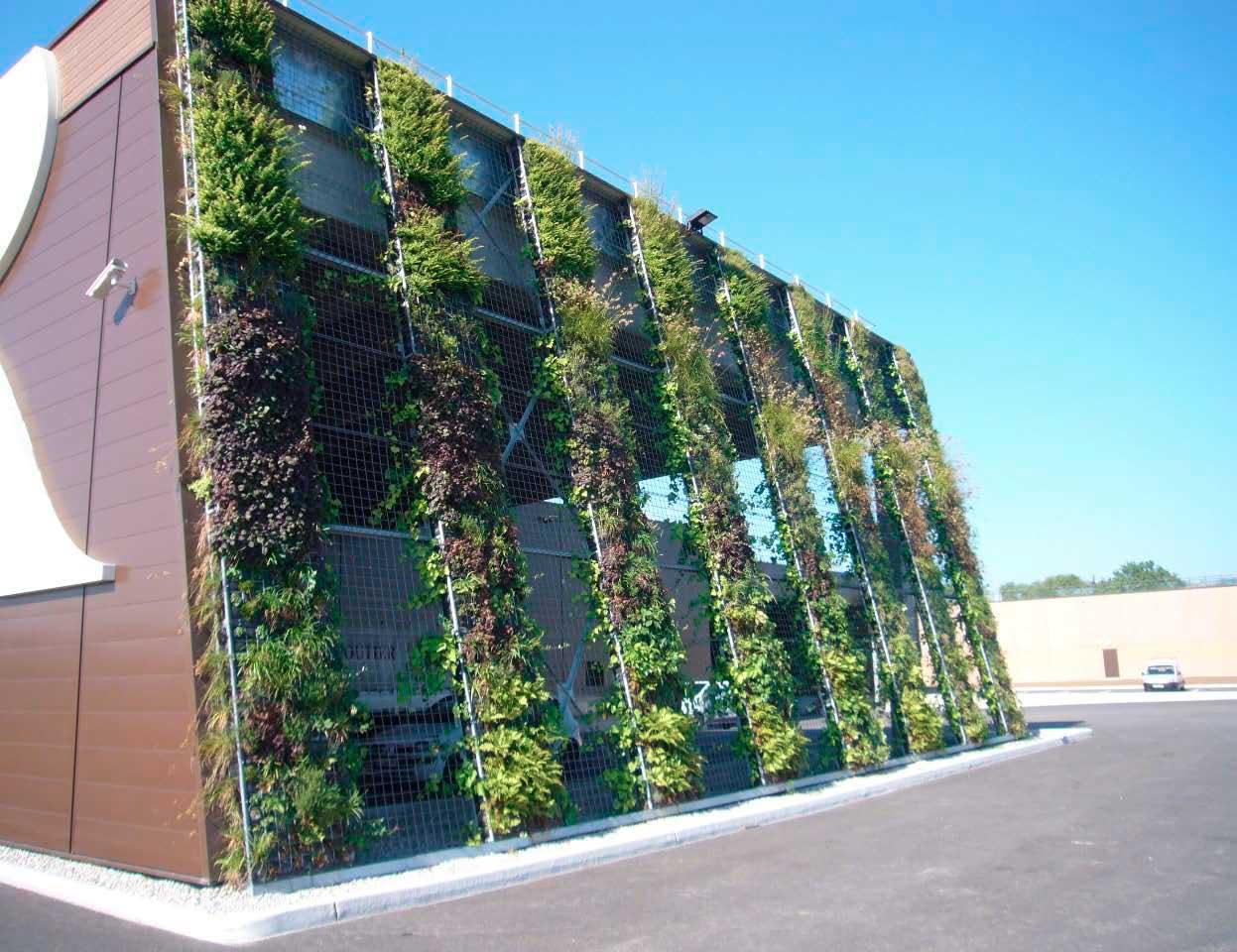 Fachadas verdes activas canevaflor productos for Muros y fachadas verdes jardines verticales